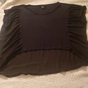 Torrid chiffon hi lo dolman sleeve black top 3x